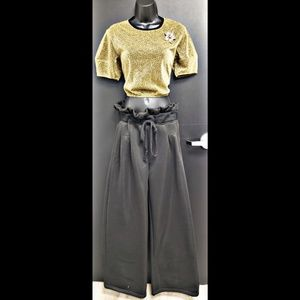Wideleg Drawstring Pants